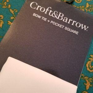croft & barrow Accessories - NWT Bow Tie Snowflake w/Pocket Square Croft